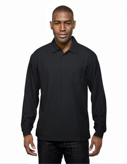 Endurance Pocket Long Sleeve-Mens 100% Polyester Knit L/S Golf Shirt-TM Performance