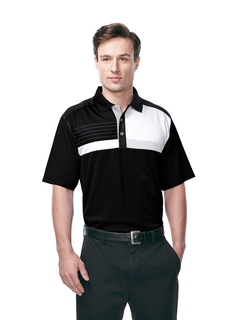 Marquis-Mens 100% Polyester Knit S/S Golf Shirt-Tri-Mountain Gold
