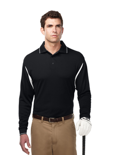 Action Long Sleeve-Mens 100% Polyester Waffle Knit-TM Performance