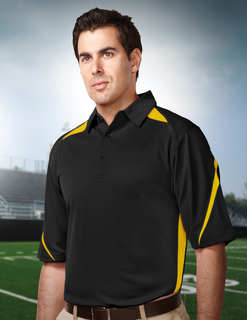 Lightning-Mens 100% Polyester Birdeye Polo