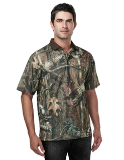 Momentum Camo Polo-Mens Polyeater Real Tree Print Short Sleeve Shirt-