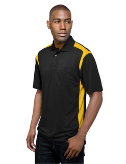 Blitz Pocket-Mens 100% Polyester Knit S/S Golf Shirt-TM Performance