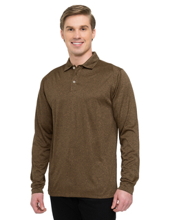 Gallant Long Sleeve-Mens 5 Oz. 100% Polyester Heather Jersey Long Sleeve Polo With Ultracool™ Moisture-Wicking Tech