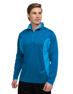 Sprinter-Mens 5 Oz 100% Polyester Heather Jersey Long Sleeve 172-Zip Pullover w/ Ultracool™ Moisture-Wicking-
