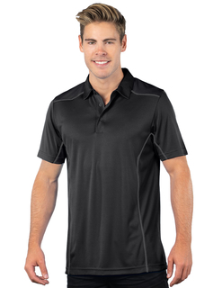 Adrenaline-Mens Contrast Stitched Performance Polo-TM Performance