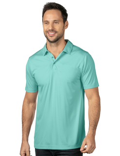 Silas-Mens Micro Striped Performance Polo-
