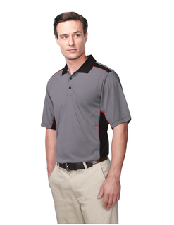 Accolade-Mens 100% Polyester Knit S/S Golf Shirt