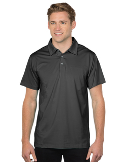 Corona-Mens 92% Polyester 8% Spandex, S/S Polo Shirt-Tri-Mountain Gold