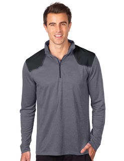 Approach-Mens Heather Colorblock 14zip Performance Pullover-TM Performance