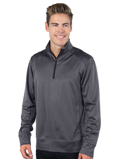 Harris-Mens Herringbone Quarterzip Pullover-