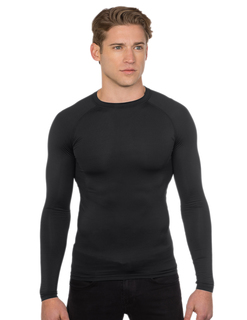 Gauntlet Ls-Mens / Oz 88% Polyester/12% Spandex Long Sleeve Compression Crew Neck Shirt-