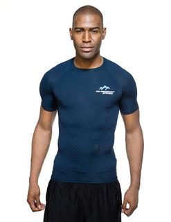 Gauntlet Ss-Mens / Oz 88% Polyester/12% Spandex Short Sleeve Compression Crew Neck Shirt-