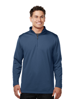 Clementon-Mens 100% Polyester 1/4 Zip Pullover w/Tmp Puller