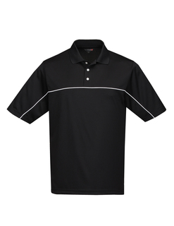 Heel-Toe-Mens 100% Polyester Color Blocking Polo Shirt-