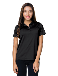 Lady Vital Snap-5 Oz. 100% Polyester Mini-Pique Short Sleeve Polo Featuring Moisture-Wicking-Tri-Mountain