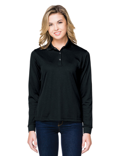 Lady Vital Ls Snap-5 Oz. 100% Polyester Mini-Pique Long Sleeve Polo Featuring Moisture-Wicking-Tri-Mountain