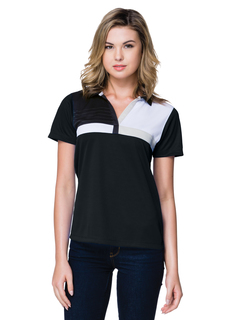 Lady Marquis-Womens 58 Oz 100% Polyester Color Block Polo Featuring Tri-Mountain Ultracool™ Moisture-Wicking-