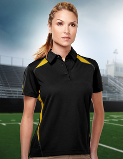 Lady Lightning-Womens 100% Polyester Birdeye w/Uc 3 Buttom Polo-TM Performance