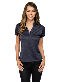 Gala-Womens 5 Oz 100% Polyester Heather Jersey Polo-