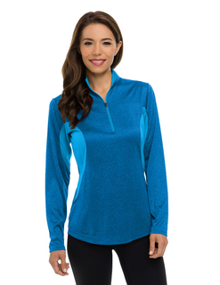 Lady Sprinter-Womens 5 Oz 100% Polyester Heather Jersey Long Sleeve 172-Zip Pullover Ultracool™ Moisture-Wicking-