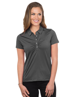 Calera-Womens 92% Polyester 8% Spandex, S/S Polo Shirt-Tri-Mountain Gold