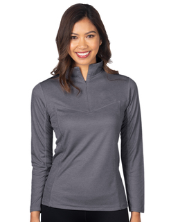 Athena-Womens Heather 14zip Performance Pullover-TM Performance