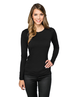 Colette-Womens Crew Neck Top Ruching Along Top Sleeve-