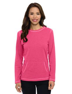 Taryn-Womens 62 Oz 95% Cotton/5% Spandex Long Sleeve Crew Neck Shirt-