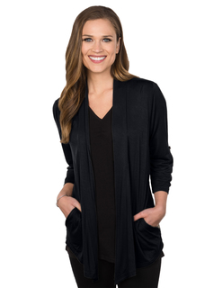 Mila-Womens 34 Sleeve Knit Cardigan-