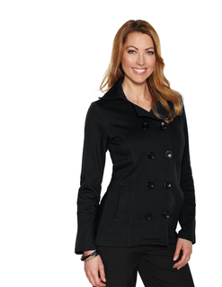 Riley-Womens 10.4 Oz 60% Cotton/40% Polyester Fleece Peacoat