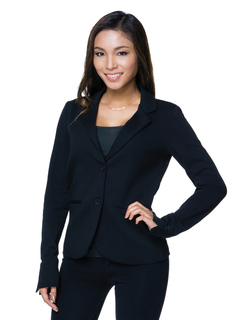 Addison-Womens 11 Oz. 57% Cotton/39% Polyester/4% Spandex Two-Button Blazer