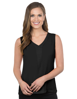 Bella-Womens Sleeveless Vneck Blouse-