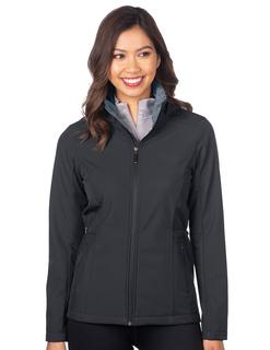 Sienna-Womens Soft Shell Velour Hooded Jacket-
