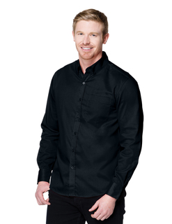 Regal Long Sleeve-Mens 38 Oz 60% Cotton/40% Polyester Brushed Twill Long Sleeve Woven Shirt-