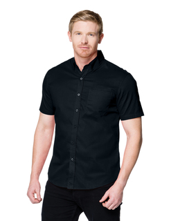 Regal Short Sleeve-Mens 38 Oz 60% Cotton/40% Polyester Brushed Twill Short Sleeve Woven Shirt