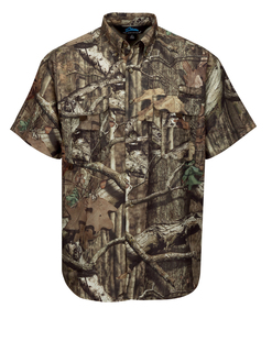 Reef Camo-Mens 3 Oz. Nylon Short Sleeve Shirt Featuring Upf 25 Sun Protection