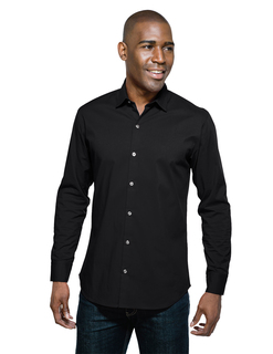Greyson-Mens 68% Cotton/27% Polyester/5% Spandex Long Sleeve Woven Shirt