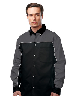 Downshifter Long Sleeve-Mens 60% Cotton 40% Polyester Twill Woven Long Sleeve Shirt-