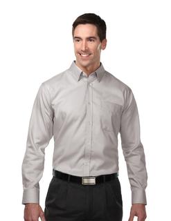 Rosewood-Mens 74% Cotton 26% Polyester Woven Dress Shirt-Tri-Mountain Gold