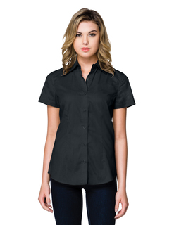 Lady Regal Short Sleeve-Womens 38 Oz 60% Cotton/40% Polyester Brushed Twill Short Sleeve Woven Shirt-