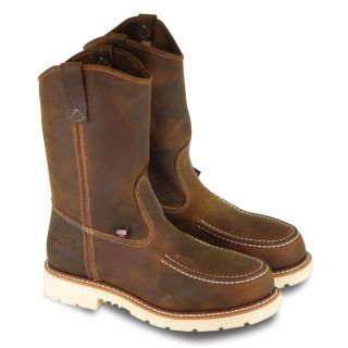 AMERICAN HERITAGE 11 TRAIL CRAZYHORSE SAFETY TOE MOC TOE PULL ON WELLINGTON-Thorogood Shoes