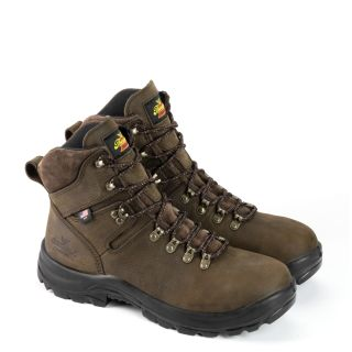 AMERICAN UNION SERIES WATERPROOF 6 BROWN WORK BOOT-