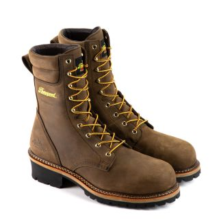 Logger Series 9 Studhorse Brown Waterproof/Comp Toe-Thorogood Shoes