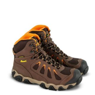 Crosstrex Series Waterproof 6 Brown Safety Toe Hiker-Thorogood Shoes