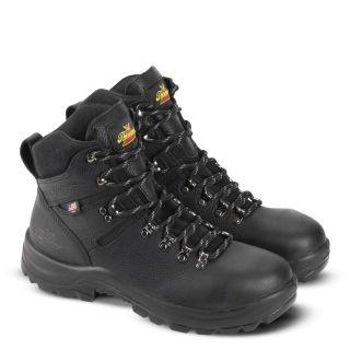 AMERICAN UNION SERIES WATERPROOF 6 BLACK WORK BOOT-Thorogood Shoes