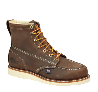 "814-4203 6"" Brown Moc Toe Non-Safety-"