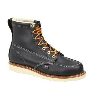 """814-6201 6"""" Black Moc Toe Non-Safety-Thorogood Shoes"""