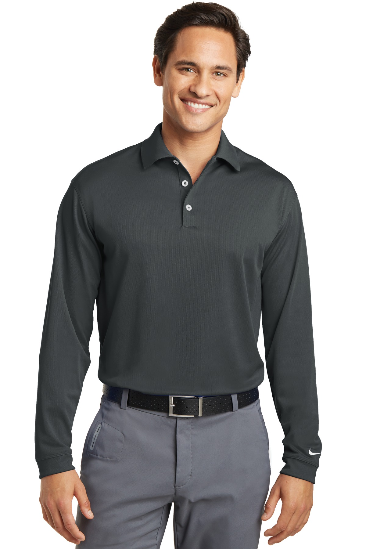 Nike Golf Long Sleeve Dri-FIT Stretch Tech Polo.-Nike