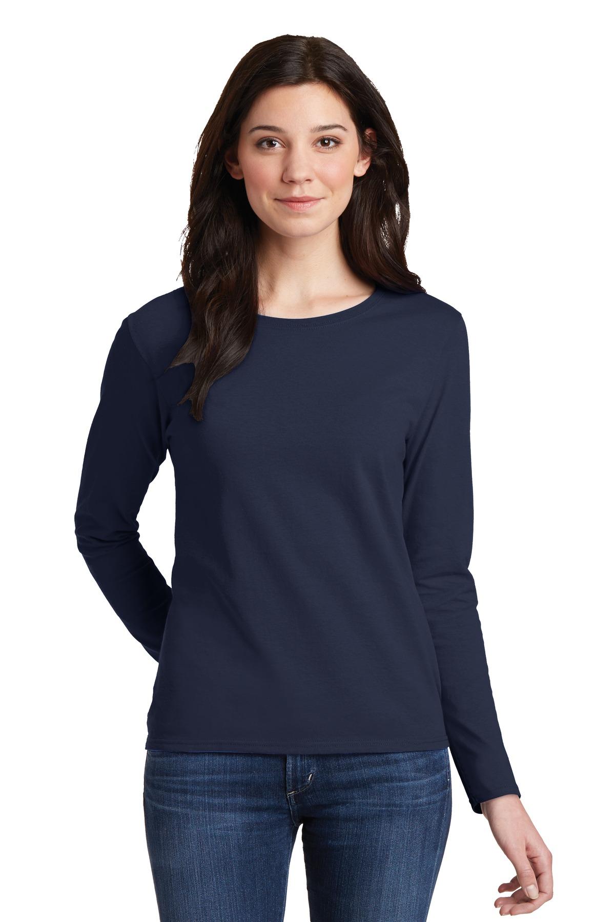 Gildan® Ladies Heavy Cotton 100% Cotton Long Sleeve T-Shirt.-Gildan