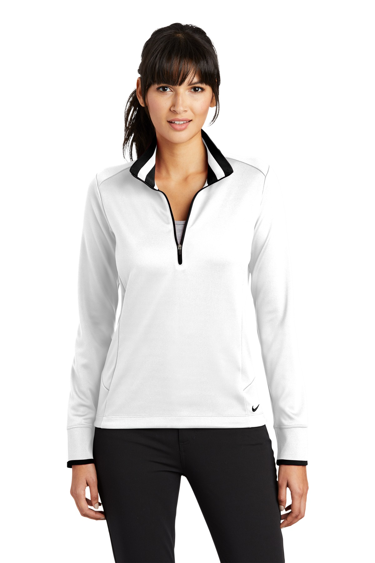Nike Golf Ladies Dri-FIT 1/2-Zip Cover-Up with Westminster Village Logo-Nike